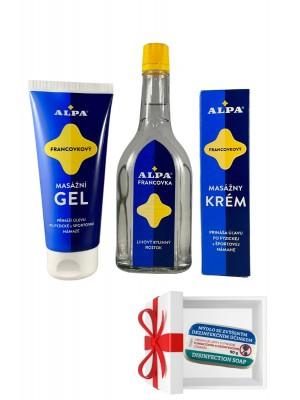 ALPA Francovka + masážny krém + gel +mydlo grátis