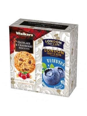 London Darčeková sada sušienky a čaj čučoriedka (1107)