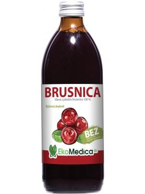 Šťava Brusnica 100% 500 ml - EkoMedica