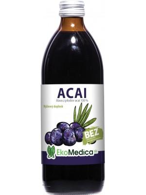 Šťava Acai 100% 500 ml - EkoMedica