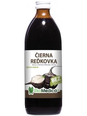 Šťava Čierna reďkovka 100% 500 ml - EkoMedica