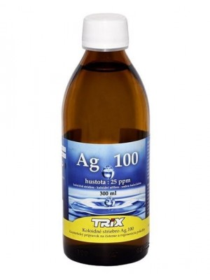 Koloidné striebro Ag100 300 ml 25 ppm