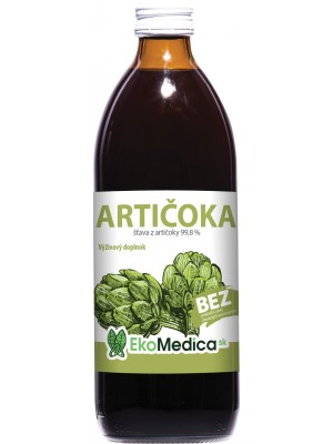 Šťava Artičoka 100% 500 ml - EkoMedica