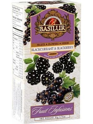 BASILUR Fruit Blackcurrant & Blackberry neprebal 25x2g (7325)