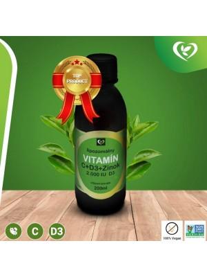 Lipozomálny vitamín C + Zinok + D3