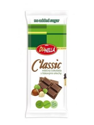 Chocoland sugar free - mliečná čokoláda s orechami 50g