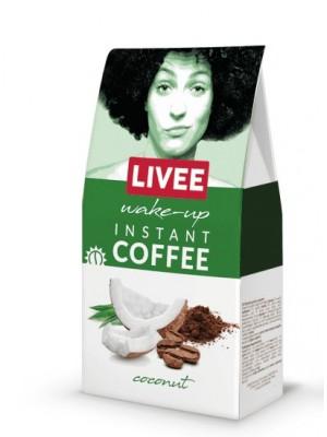 Káva instantná s príchuťou kokosu - ranná 60g Livee