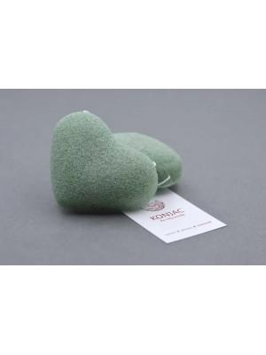 Špongia Konjac Zelená srdiečko