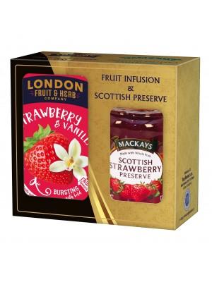 London Darčeková sada džem a čaj jahoda, vanilka (1113)