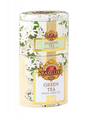 BASILUR 2v1 Jasmine & Green plech 30g & 70g (7539)