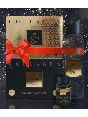 Zeen Collagen zlatý + čierny a fľaša
