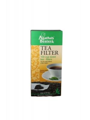 Filtre na čaj s objemom 0,3l, biele, nechlórovan