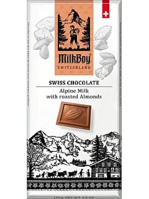 MILKBOY Mléčná čokoláda roasted Almonds 100g (8774)
