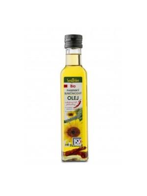 Olej BU bio slnečnicový s čili paprikou 250 ml
