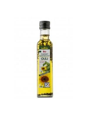 Olej BU bio panenský slnečnicový s bazalkou 250 ml