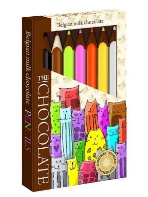 SEVERKA Čokoládové pastelky - mačky 90g (9068)