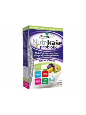 Nutrikaše probiotík slivka bezl. 3x60g