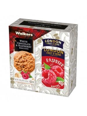 London Darčeková sada sušienky a čaj malina (1111)