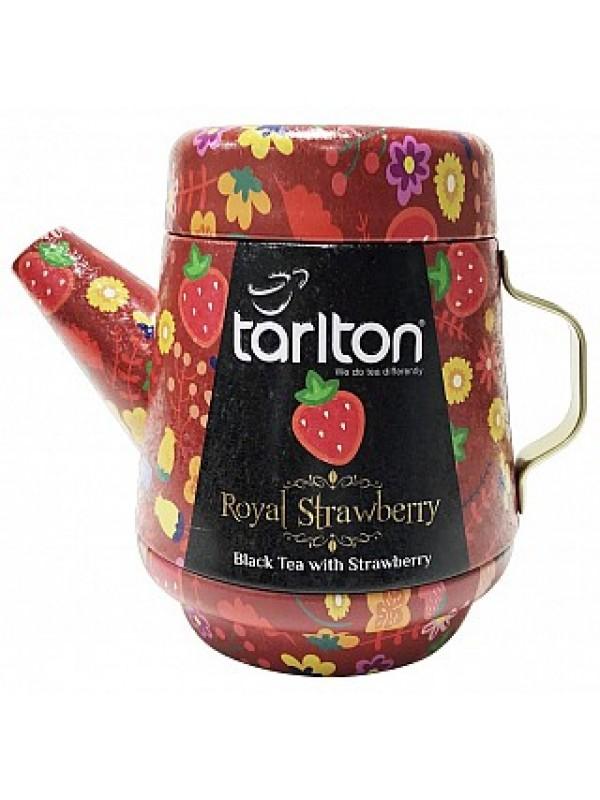 TARLTON Tea Pot Royal Strawberry Black plech 100g (7087)