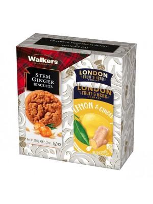 London Darčeková sada sušienky a čaj citrón, zázvor (1106)