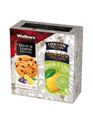 London Darčeková sada sušienky a čaj citrón, limetka (1105)
