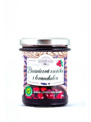 Levanduľová omáčka jemná brusnicová 220g