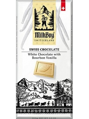 MILKBOY Biela čokoláda Bourbon Vanilla 100g (8771)