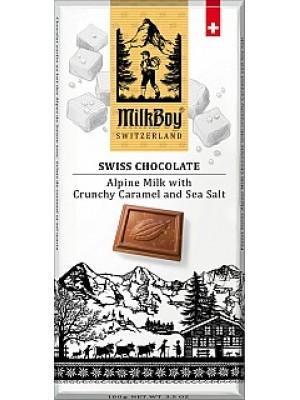 MILKBOY Mliečna čokoláda crunchy Caramel & Sea Salt 10 (8773)