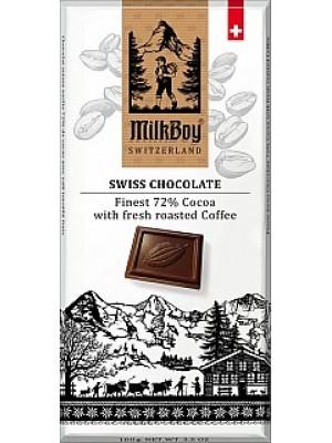 MILKBOY Horká čokoláda 72% fresh roasted Coffee 100g (8776)
