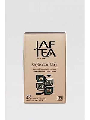 JAFTEA Black Ceylon Earl Grey prebal 20x2g (2823)