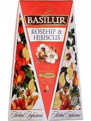 BASILUR Herbal Infusions Rosehip & Hibiscus 15x2g (4095)