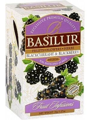BASILUR Fruit Blackcurrant & Blackberry 20x1,8g (4440)