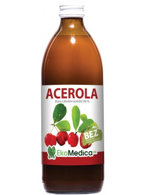 Šťava Acerola 100% 500ml - EkoMedica