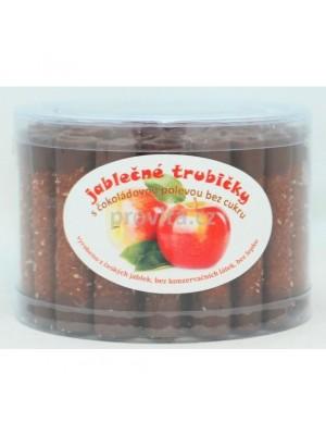 Jablkové trubičky dóza s čokoládovou polevou - bez cukru 45ks