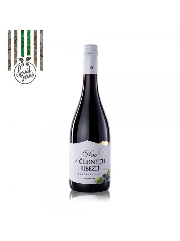 Miluron Víno z čiernych ríbezlí  0,75l