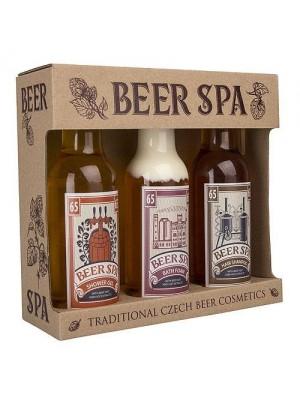 Beer Spa sada - gél 200ml, šampón 200ml a pena 200ml (BC 701536)