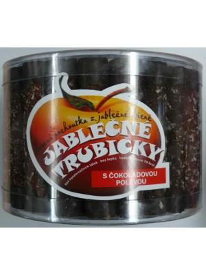 Jablkové trubičky dóza s čokoládovou polevou - bezlepkové 540g