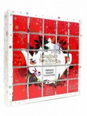 ETS Červený adventný kalendár Puzzle 25 pyramídiek