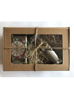 Darčekové balenie Tipson zelený čaj 5151 + frenchpress