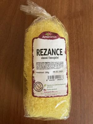 Amaranth Rezance vlasové bezvaječné 250g bezlepkové