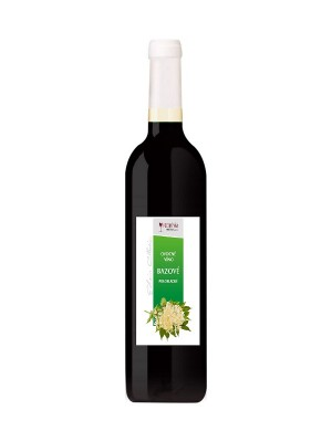 Hučko Bazové ovocné polosladké víno 0,75l