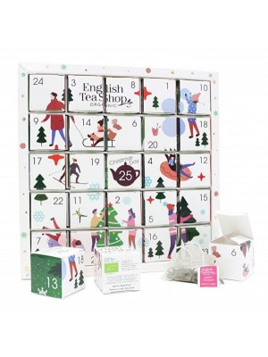 ETS Biely adventný kalendár Puzzle, 25 pyramídiek